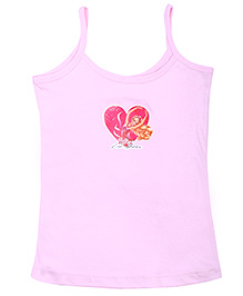 Barbie Singlet Slip Light Pink - Pink Shoes Print