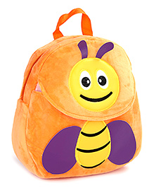 Fab N Funky Orange Plush Bag Bee Design - 11 Inches
