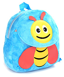 Fab N Funky Blue Plush Bag Bee Design - 11 Inches