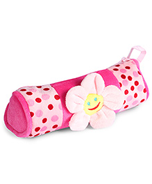 Fab N Funky Plush Baby Pouch Pink - Flower Design