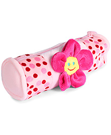 Fab N Funky Plush Baby Pouch Light Pink - Flower Design