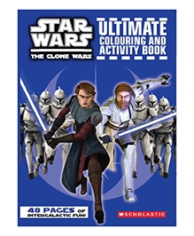 Scholastic Clone Wars Ultimate Colouring Activity Book - English