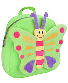 Fab N Funky Butterfly Design Plush Bag Green - 12 Inches