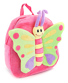 Fab N Funky Butterfly Design Plush Bag Pink - 12 Inches