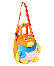 Fab N Funky Sling Pouch Bag Orange - Penguin
