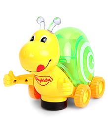 Mitashi Skykidz Musical Luminous Snail - Yellow And Green - 18 Months+
