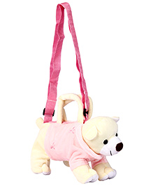 Fab N Funky Kids Sling Pouch Bag - Pink And Light Yellow