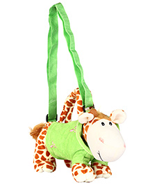 Fab N Funky Sling Pouch Bag Giraffe Design - Green And Brown