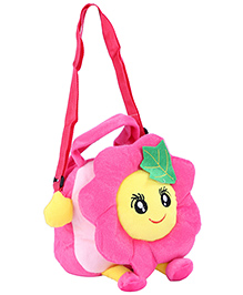 Fab N Funky Plush Kids Bag Pink - Flower Shape