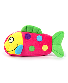 Fab N Funky Plush Baby Pouch Fish Shape - Pink