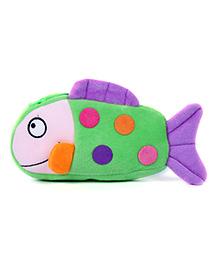 Fab N Funky Plush Baby Pouch Fish Shape - Green