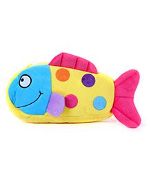 Fab N Funky Plush Baby Pouch Fish Shape - Yellow