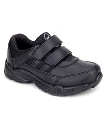 Action Campus Junior Shoes With Dual Velcro Closure - Black