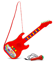 Prasid Mini Guitar With Mic - Red And Green