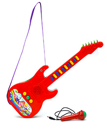 Prasid Mini Guitar With Mic - Red And Blue