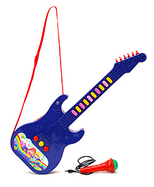 Prasid Mini Guitar With Mic - Blue And Red
