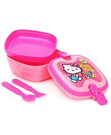 Hello Kitty Lunch Box With Handle - Pink - 16 X 15 X 8 Cm
