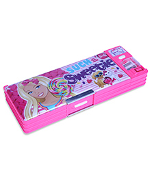 Barbie Magnetic Pencil Box With White Board - Pink - 9 X 24 X 3 Cm