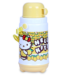 Hello Kitty Insulated Water Bottle With Cup - 400 Ml - 8 X 8 X 20 Cm