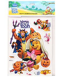 Winnie The Pooh Puffy Zoom Stickers - Multi Color