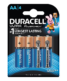 Duracell Ultra Batteries AA - Pack Of 4