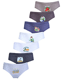 Angry Birds Multi Print Briefs - Pack Of 6