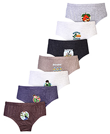 Angry Birds Printed Briefs Set Of 6 Solid Colour - Multi Colour