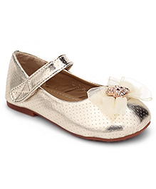 Sweet Year Belly Shoes Golden - Cat Face Applique