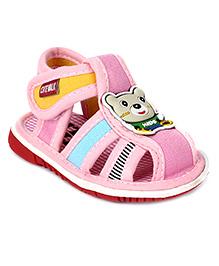 Cute Walk Sandal Velcro Closure - Bear Motif