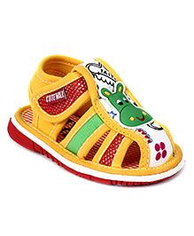 Cute Walk Sandal Velcro Closure - Yellow