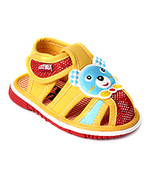 Cute Walk Squeaky Sandal Velcro Closure - Yellow