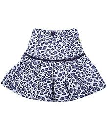 Babyhug Knee Length Pleated Skirt - Off White