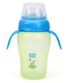 Mee Mee Twin Handle Non Spill Cup Green And Blue - 300 ml