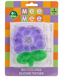 Mee Mee Multicolored Silicon Teether - Purple