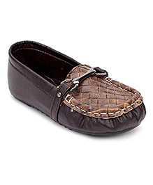 Ket Slip On Loafer Shoes - Brown