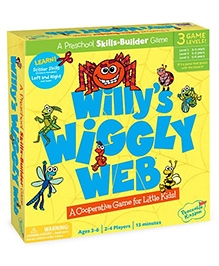 Peaceable Kingdom Willy Wiggly Web Board Game