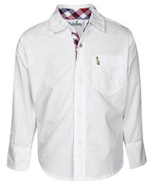 Babyhug Full Sleeves Shirt - Solid White