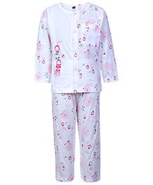 Teddy Full Sleeves Night Suit - Little Print