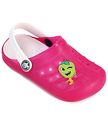 Cute Walk Clog With Back Strap Pink - Strawberry Applique