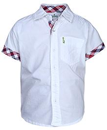 Babyhug Half Sleeves Shirt - Solid White