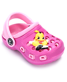 Cute Walk Clog With Back Strap - Pear Applique