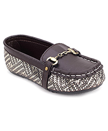 Ket Slip-On Loafer Shoes Brown - Dotted Print