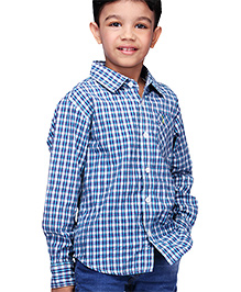 Babyhug Full Sleeves Shirt - Checks Print