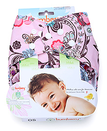 Bumberry Cloth Diaper With Insert - Light Pink