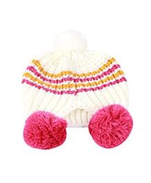 NeedyBee Infants And Toddlers Acrylic Cap - White