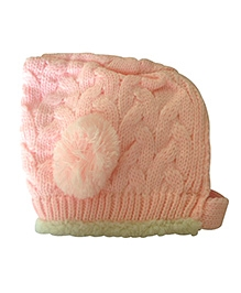 NeedyBee Knitted Winter Cap - Light Pink
