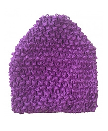 NeedyBee Crochet Cap - Dark Purple