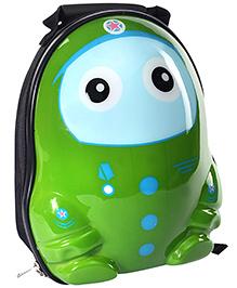 Fab N Funky School Bag Green Owl Design - 12 Inches