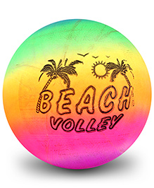 Fab N Funky Kids Ball Beach Volley Print - Yellow And Green
