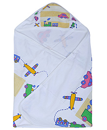 Babyhug Hooded Towel - Vehicles Print